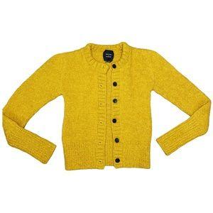 Smythe x Augden Mustard Handknit Alpaca Cardigan